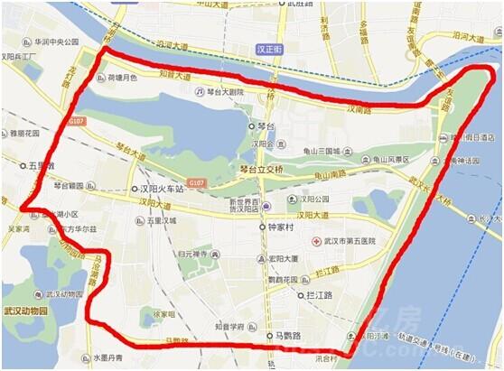 汉阳沌口振华路地图