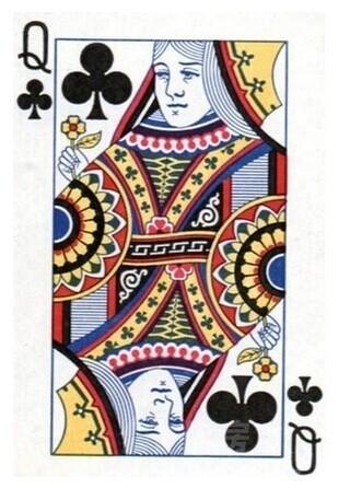 用扑克牌折篮子个步骤图片。