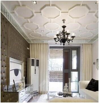 客厅过道吊顶效果图: 六边形