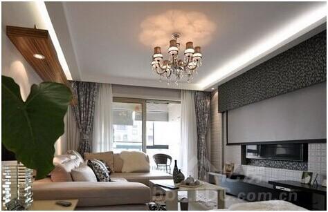 客厅过道吊顶效果图 怎么看都很美-装修选材-亿房