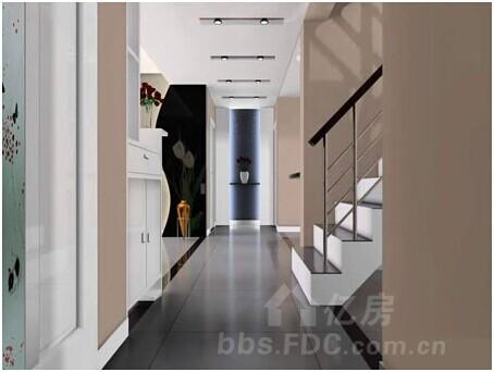 客厅进门玄关效果图:走廊吊顶装修效果图,时尚简约的设计-客厅玄