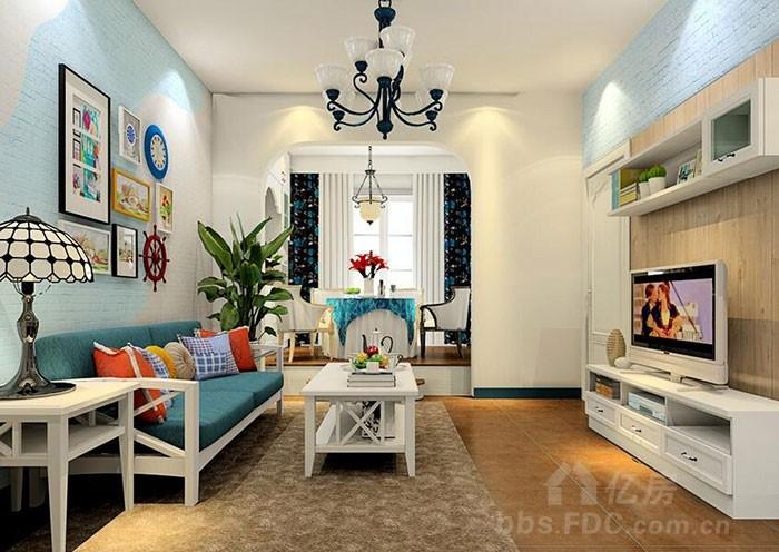75平米小户型装修 两室两厅装修 田园风格样板房 帝豪装