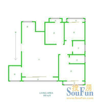0万(6522元/㎡) 珞狮南路丽岛花园对面南湖畔 户型:3室2厅,楼层:11/11
