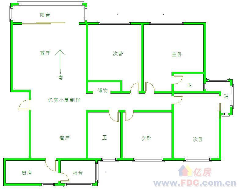 设计图分享 160平方平房设计图 > 160平方2套房设计图