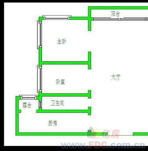 方形三室一厅户型设计图