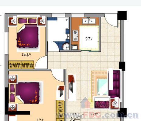 60平方两房一厅设计图