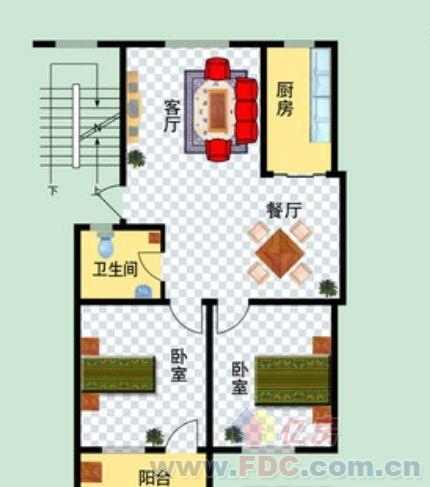65平方2房屋设计图