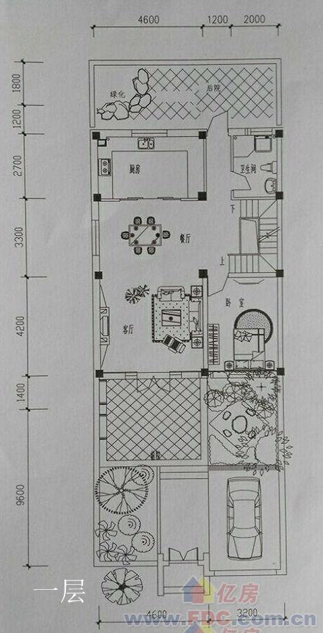 42平方院子设计平面图