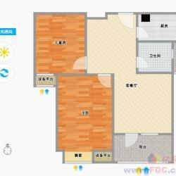 福星华府两室一厅毛坯,中上层