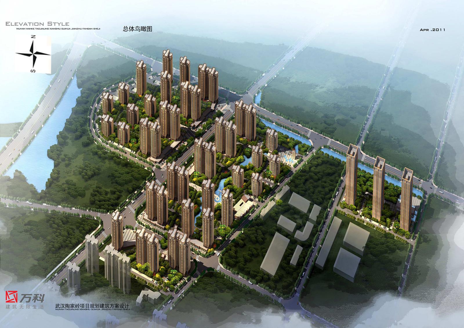 万科汉阳国际楼栋示意图