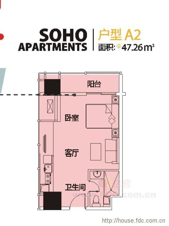 福星惠誉水岸国际公寓户型图-亿房网