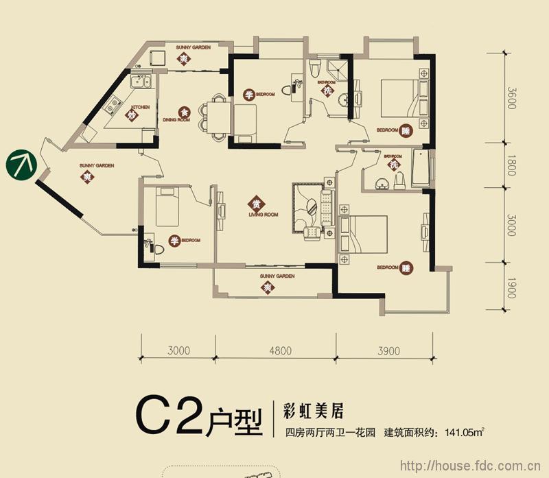 东湖高新区 锦绣龙城五期彩虹公园  锦绣龙城五期彩虹公园  c3,c4户型