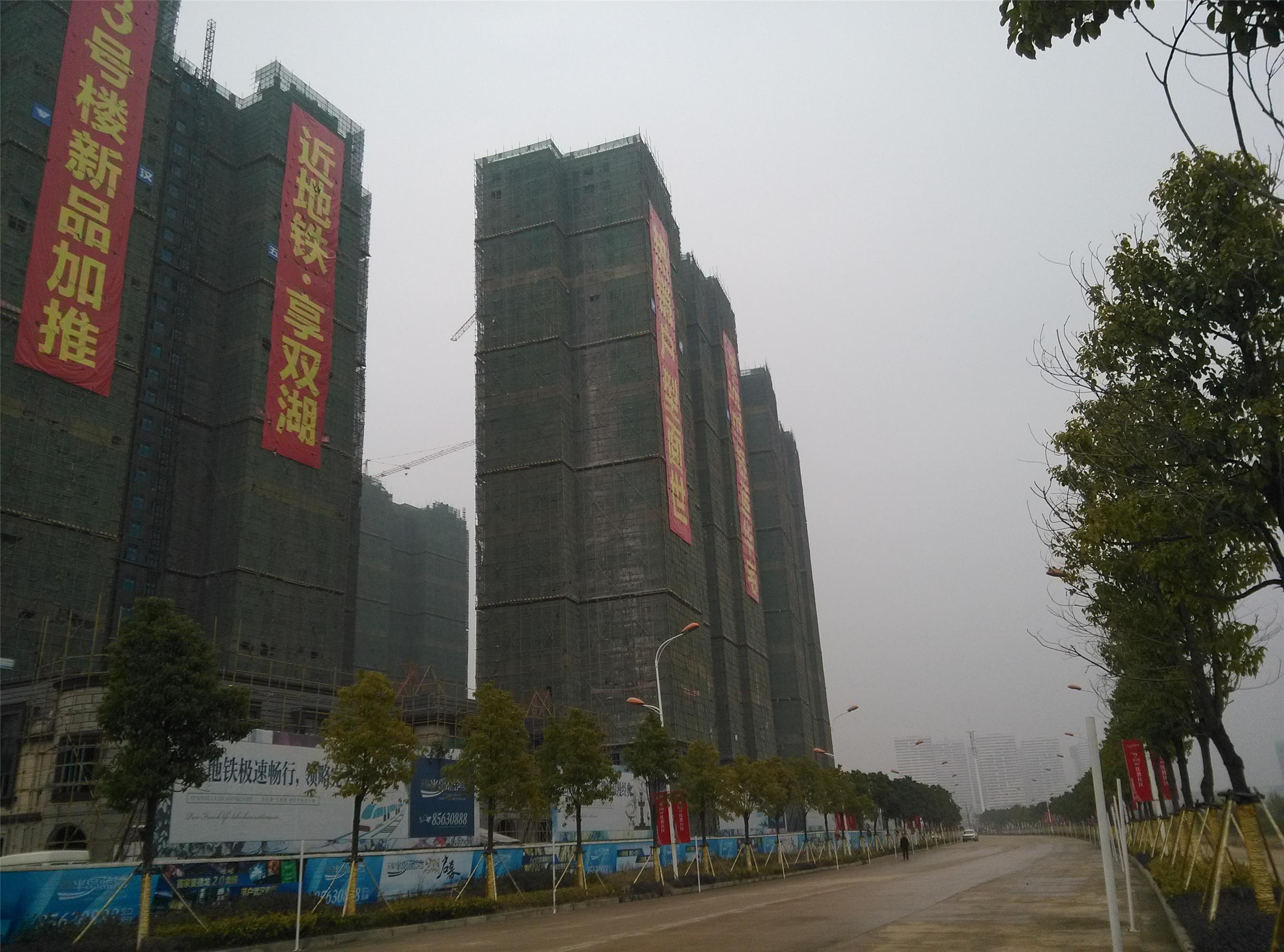 武汉天纵半岛蓝湾工程进度-亿房网
