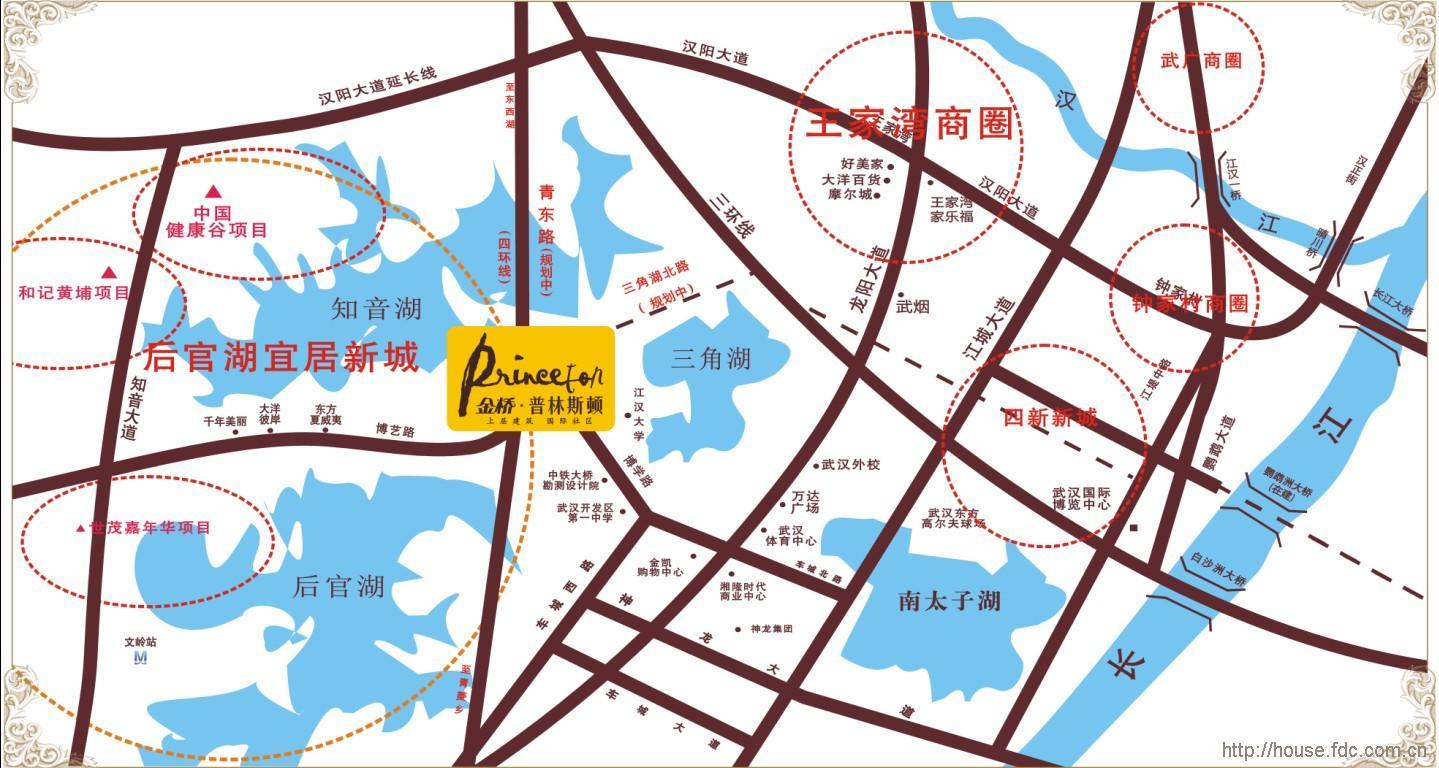 沌口街道线路图