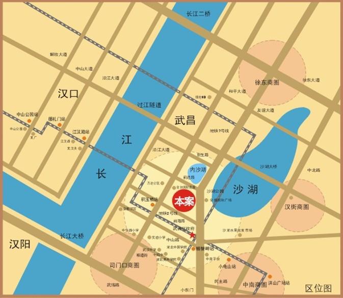 友谊国际广场交通区位图