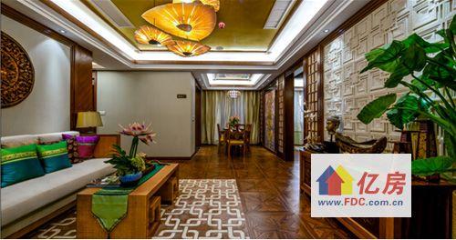 样板间汲取滨水豪宅的水元素,描摹出东南亚芭提雅的度假风情.