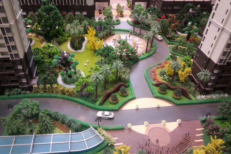 海马公园实景图-小区内部景观全景
