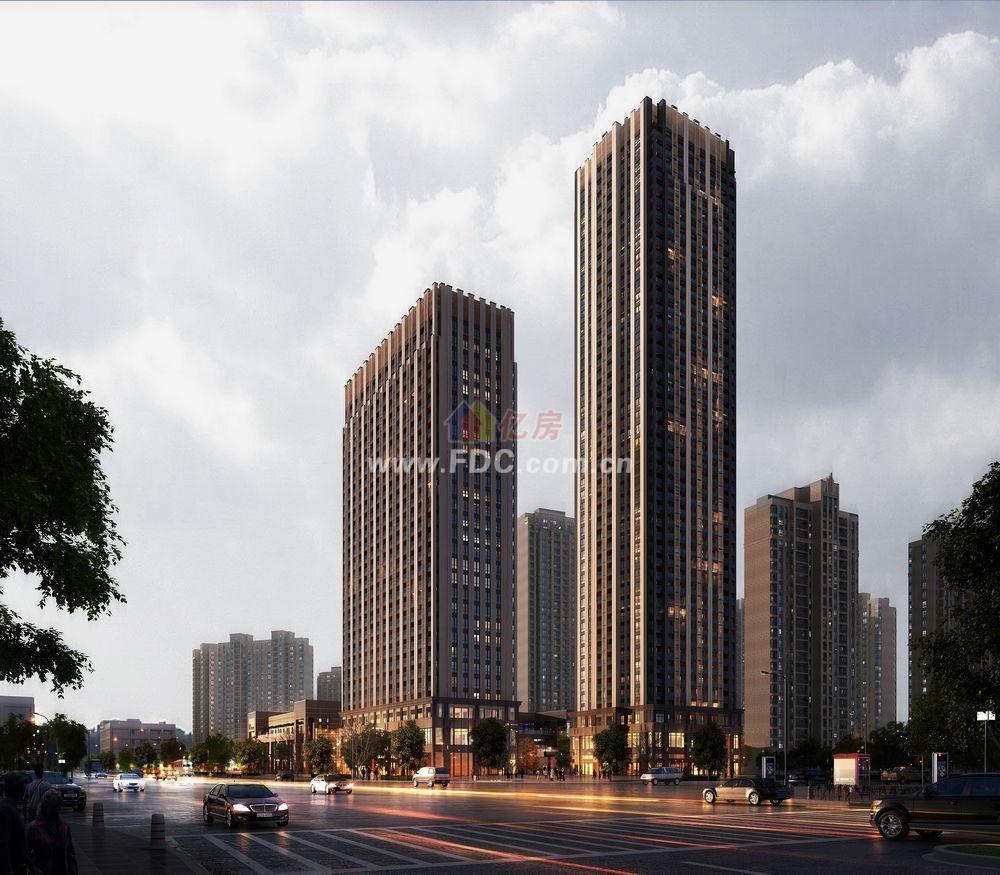 武汉万科金色城市微公寓楼盘效果图-亿房网