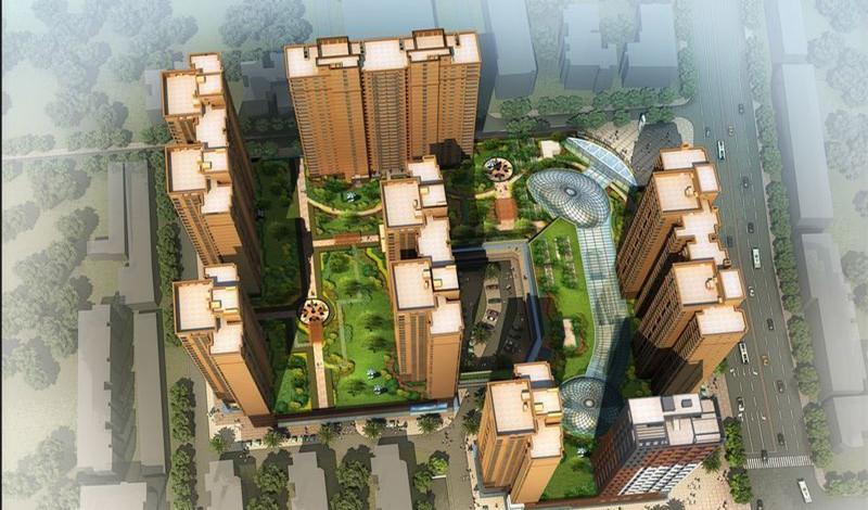 武汉海林广场商铺楼盘效果图-亿房网