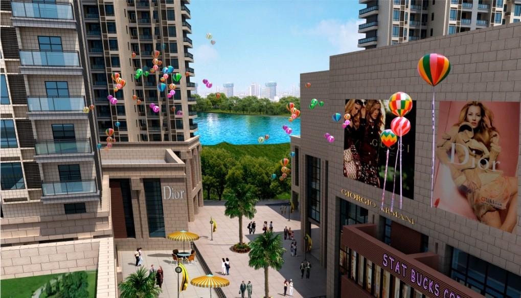 商业街景俯视效果图