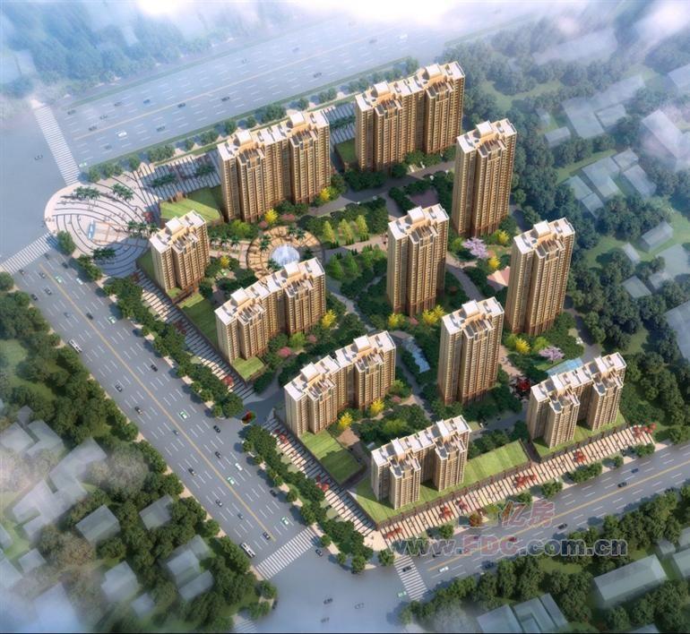 汉北大全景 效果图
